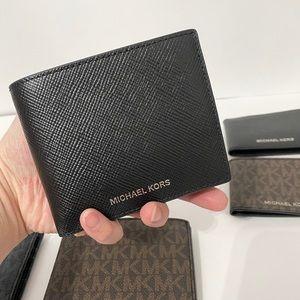 💯🆕MK Men wallet/leather/black color🆕